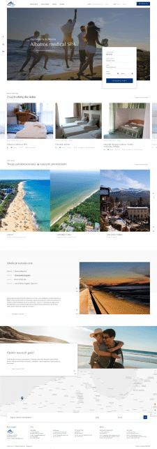 Сайт с резервацией для сети отелей в Польше