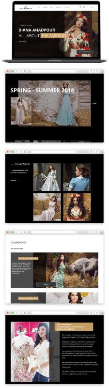 Дизайн сайта для кутюрье одежды