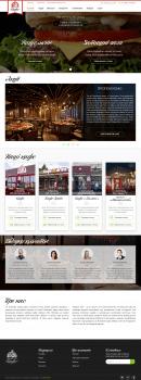 Создание дизайна сайта сети кафе Мамин хліб