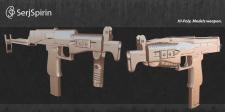 Hi-poly, Weapon.