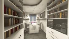 Визуализация комнаты под кабинет