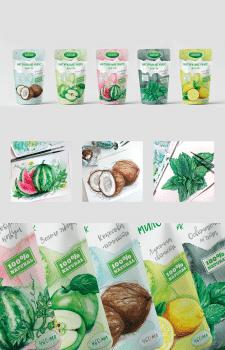 Дизайн серии упаковок для мыла