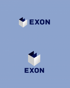 Exon. Logo concept for construction company.