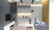 Кухня-студия. Дизайн гостиничного номера