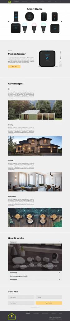 Smart Home system Website