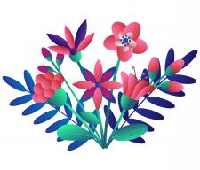 Иллюстрация  в стиле флет
