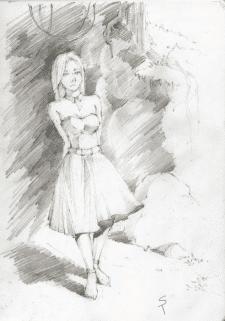 Girl in Cave