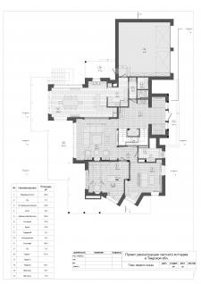 План 3-х этажного коттеджа