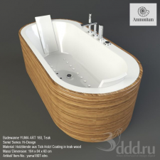 Ванная-Whirlpool tub YUMA ART 180, Teak wood