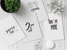 Серия открыток в стиле минимализм