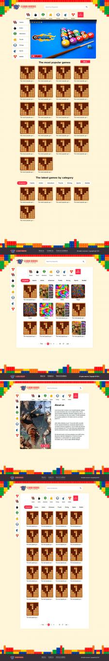 Верстка игрового сайта