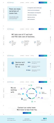 Сайт-визитка Devogic