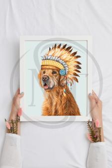 Портрет собаки с аксессуарами