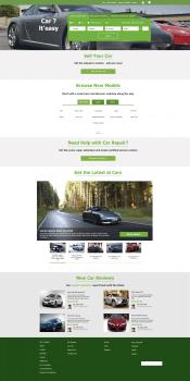Главная страница сайта Cars