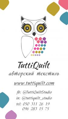 Логотип и визитка для студии лоскутного шитья