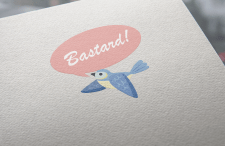 """Логотип для пляжной обуви """"Bastard!"""""""