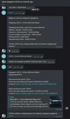Бот-парсер Telegram торговой площадки csgo.tm