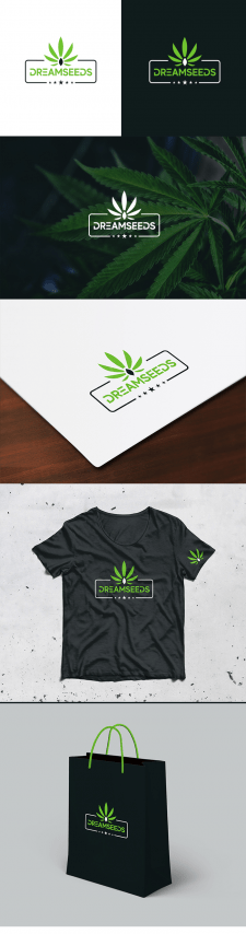 Логотип для магазина конопляных семян