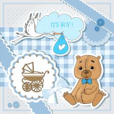 It is a boy! открытка