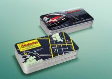 Дизайн визитки для СТО с отрисовкой карты проезда