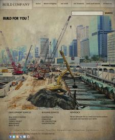 шаблон сайт строительной фирмы