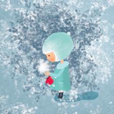 """Детская иллюстрация """"Снежинка"""""""