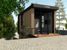Павільйон продажу квартир в Карпатах