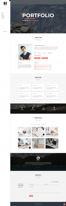 Hibix - Personal Portfolio / Resume