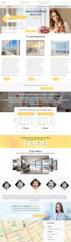 Макет внутренних  страниц сайта в виде лендинга