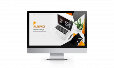 Landing page веб-студії з паралакс-ефектом