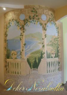 Роспись стены арка