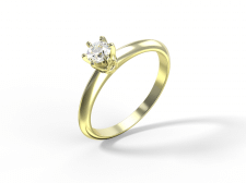 Визуализация кольца с бриллиантом