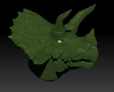 Голова трицератопса