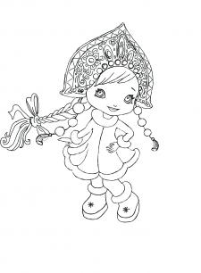 Снегурочка. Иллюстрация для детской книги