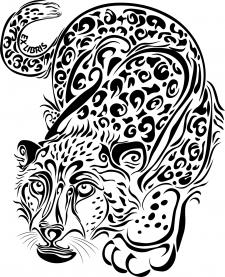 Иллюстрация снежного барса для Ex Libris