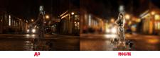 Стилизация фото, светокоррекция