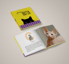 """Дизайн книги """"Абетка котів"""""""