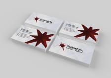 Дизайн визитки для диджитал агентства Starmedia
