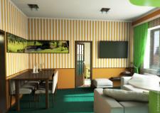 Дизайн и моделирование интерьера кухни-столовой