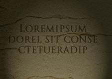 Старый текст на камне