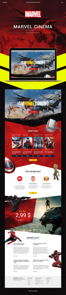 Marvel UI project site