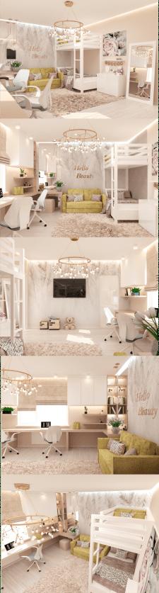 Дизайн комнаты для 2 сестренок