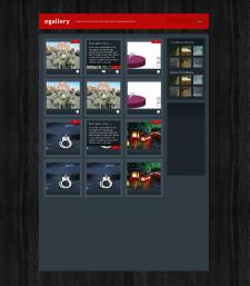 Веб-дизайн для блога Egallery