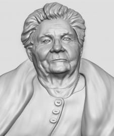 портрет по фото скрин с Zbrush