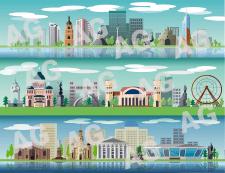 Векторные панорамы городов и континентов