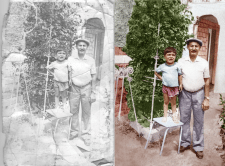 Реставрация фото, перевод в цвет