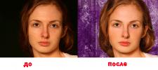 Ретушь портрета, цветокоррекция, замена фона