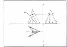 Линия пересечения пирамиды с отверстием