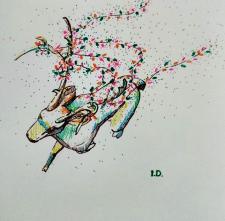 Карандашный скетч_Рождественский олень