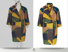Обтравка женского пальто 3